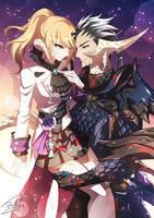 FFXIV -  Yumi and Ryo by DarkHHHHHH