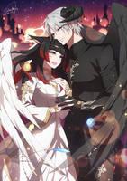 FFXIV - Aya and Muller by DarkHHHHHH