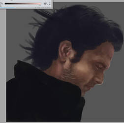 Sebastian Stan WIP by Lola-in-the-Black
