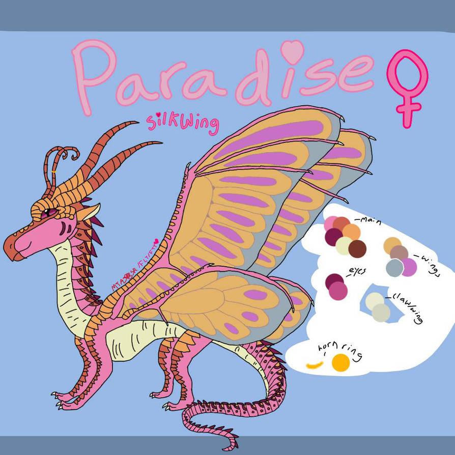 Paradise SilkWing Ref by MewTreeckoAJ