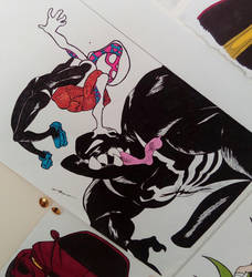 spidergwen vs venom by GabyLaZombie
