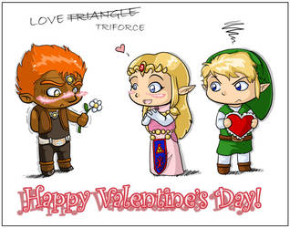 Valentine's Day:love triangle by leedom111