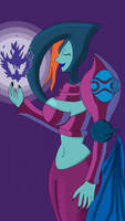 Veran with her flame by OracleOfChocolate