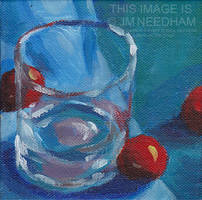 Glass and Cherry Tomatoes by JMNeedhamArt
