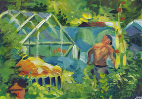 At The Allotments by JMNeedhamArt