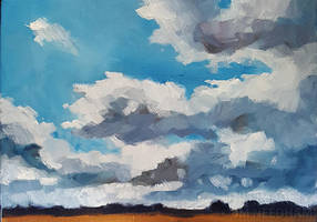 Sky Over The Fens by JMNeedhamArt