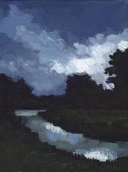 Canal, Nocturne by JMNeedhamArt