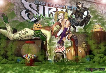 Gotham Sirens Halloween by akumon