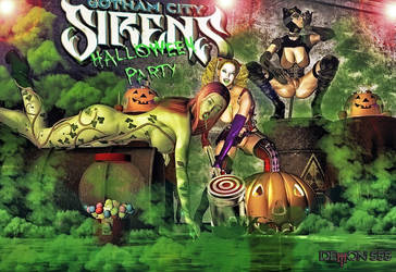 Gotham Sirens Halloween N Poison by akumon