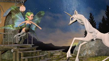 Mavka and Unicorn Reunion by lapsedvirgo