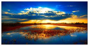 infrared sunset by werol