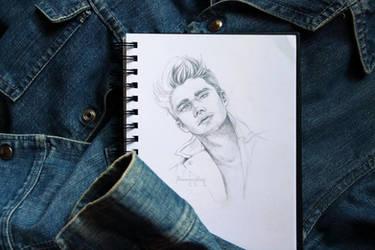 Study Sketch: Man in Denim by barananduen