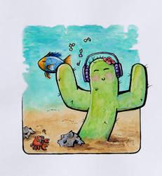 Watercolor - Inktober 04 - Underwater by barananduen