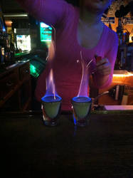 Flaming Pumpkin Shots by pinkpixxee