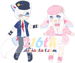 MYO Lacie and Doilie by 216th