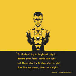Sinestro with the yellow lantern oath by BlackGuard89