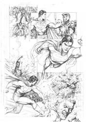 Action Comics 863 pg10 pencils by JulienHB