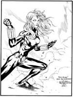Mystique as Black Widow by JulienHB