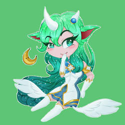.:~Star Guardian Soraka~:. by MinoxMoonbeam