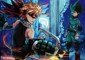 Bakugou vs Izumi | Boku no Hero Academia by YO-ROPPA