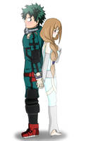 Draw, Ellie and Izuku by Mitsuki-Yukari