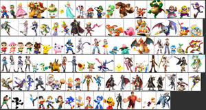 Super Smash Bros. Dream Roster Character SCALE by ScilacticonGalaxy