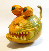 Evil Rodent-like Pumpkin by smhill
