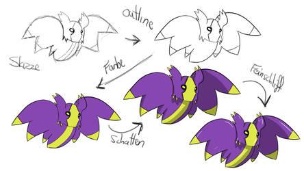 how i draw my stuff... bat! by Dafrag