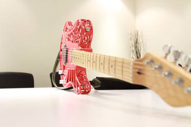 Sunrise 3D Printed Guitar by Customuse