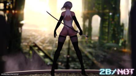 2B Comic Cover by SquarePeg3D