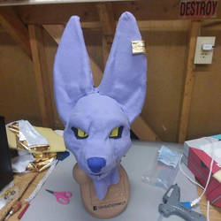 Finished Beerus Cosplay Head by Xenodragon11Crafts