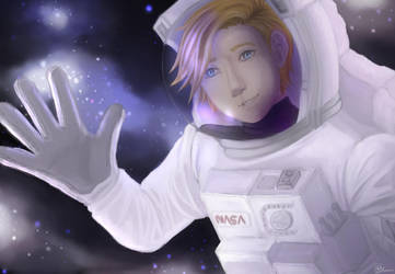 A Hello from Space by LigerSketch0X