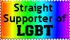 Straight for LGBT Stamp by lightpurge