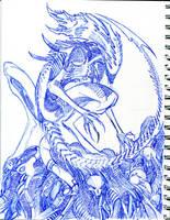Xenomorph Queen by winddragon24