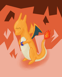 Just A Young Charizard by WolfArrow