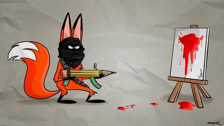 Hi mr Fox: Art terrorist! by ChesterArts