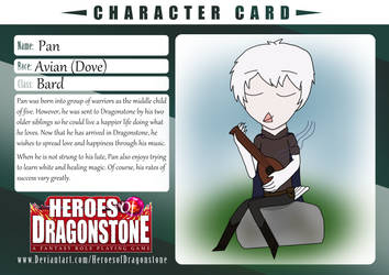 Pan Character Card by JessieLucky7