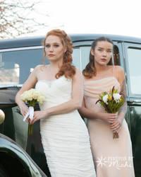 Bride and Bridesmaid by Kyndelfire