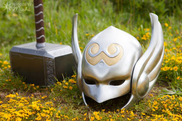 Thor's Hammer and Helm by Kyndelfire