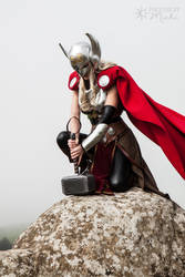 Thor: Goddess of Thunder by Kyndelfire