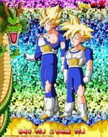 DBCU Goku SSJ and Gohan SSJ by cdzdbzGOKU