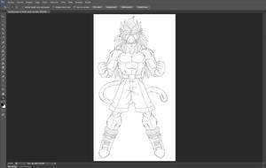 Full Preview Trunks SSJ4 Line Art by cdzdbzGOKU