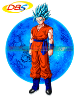 Goku SSJ God by cdzdbzGOKU
