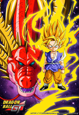 Red Dragon And Goku SSJ DBGT by cdzdbzGOKU