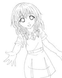 Girl Loli Sanae (Line Art Ver.) by ChiharuOnizuka