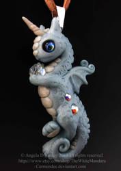 Little Blue Glitter Dragon by carmendee