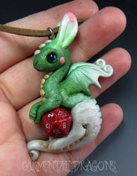 D 20 dungeons and dragons  Christmas dragon by carmendee