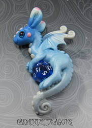 D 20 dungeons and dragons  sweet blue baby by carmendee