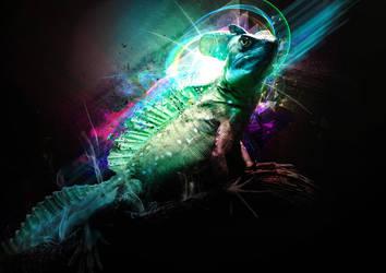 shiny lizard by pyziutek