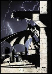 Gotham Gargoyles by jvmpainting